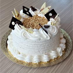 Tejszínes mogyoró torta