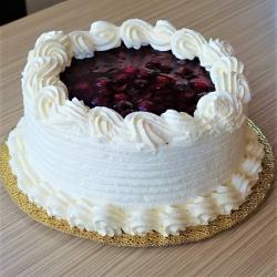 Tejszínes málna torta