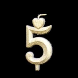 Arany számgyertya - 5